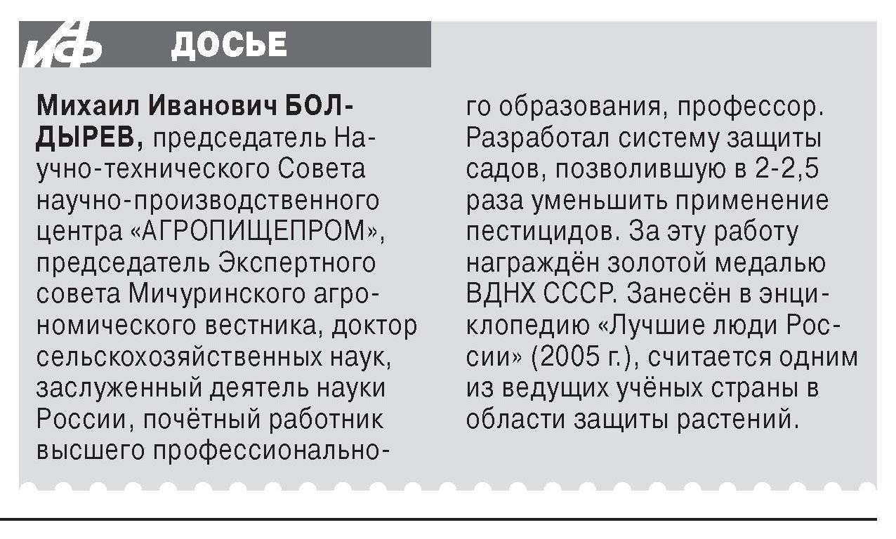 АиФ. ДОСЬЕ. М.И. Болдырев